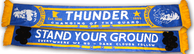 Old School Thunder Supporter Scarf